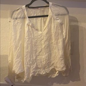 White Wink Blouse Like New - Medium Open Neck